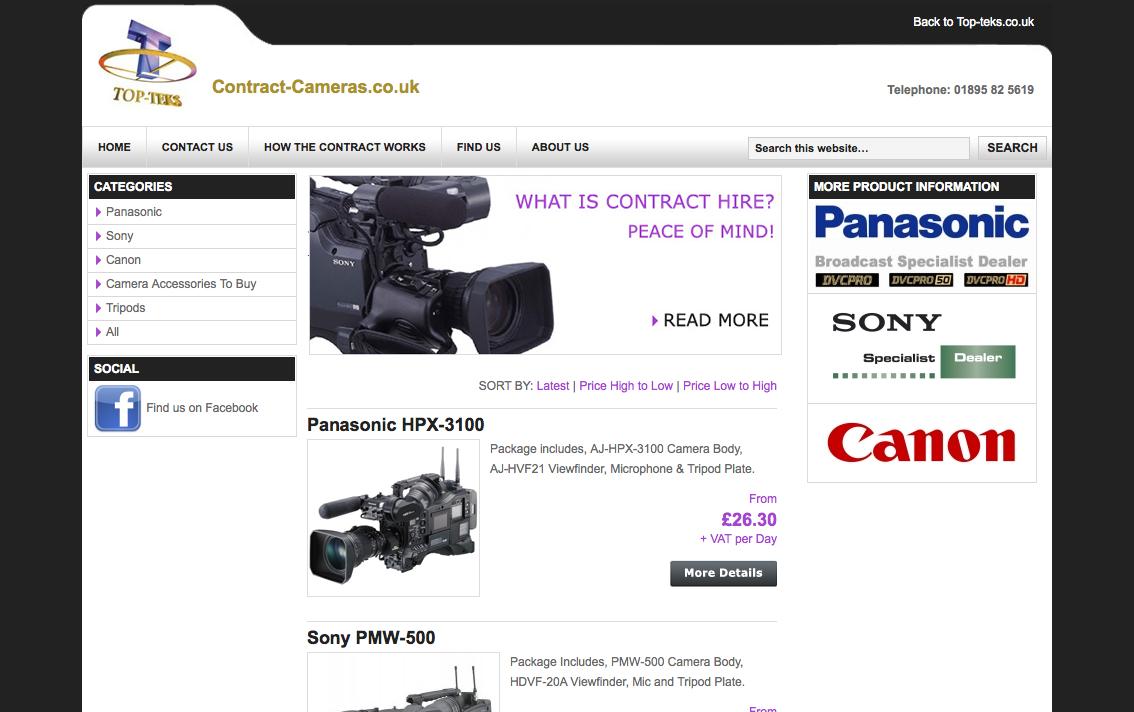 Contract Cameras - Hire deals on Cameras